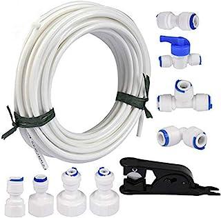 Queta 20M Kit di Alimentazione dell'acqua per Frigorifero Collegamento Universale del Tubo dell'acqua con Raccordo Connett...