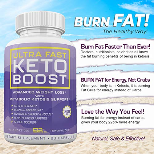 Ultra Fast Keto Boost - Advanced Weight Loss with Metabolic Ketosis Support - 800MG - 120 Capsules - 60 Day Supply 4