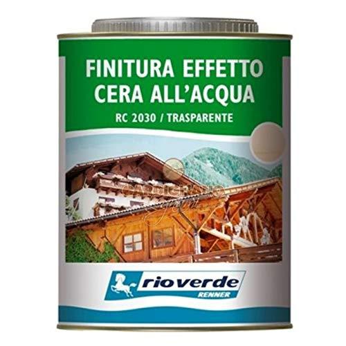 Finitura Finitura effetto cera trasparente all'acqua Rioverde RC 2030 da 2,5 Lt