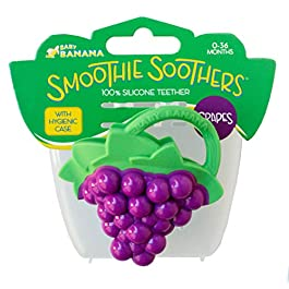 Baby Banana – Grape Smoothie Soother, Toy Teethers and Chew Toys for Teething Infant, Baby, and Toddler