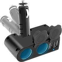 Sponsored Ad - Car Splitter Cigarette Lighter Adapter, Eletrand 2-Socket Car Charger Splitter Multi Power Outlet 12/24V 90...
