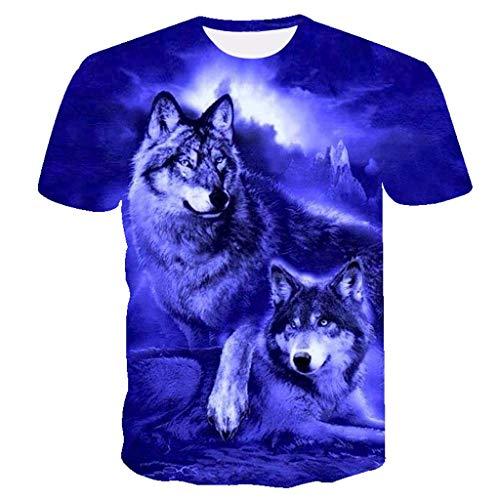 serliy😛Herren T-Shirts 3D Printing Lässige Slim Kurzarm mit Aufdruck,Rundhals Sport Spaß Motiv Tee Hemd mit kurzen Ärmeln Lässige T-Shirt