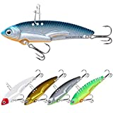 TRUSCEND Fishing Jigs Lures, Blade Baits for Bass with Distinctive Colorful Body Long Casting Metal Fishing Spoons for Trout Pike Walleye Crankbait Fishing Gear Gifts for Men Freshwater Saltwater