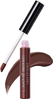 Lakme Forever Matte Liquid Lip Colour, Brown Espresso, 5.6 ml