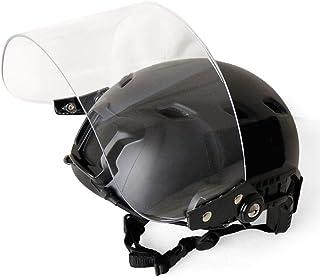 SHENKEL(シェンケル) 4点式あご紐 FAST ヘルメット BK ブラック & シールド バイザー ヘルメットレール 簡単 取り外し可能