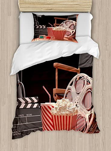 Ambesonne Ranking TOP17 Movie Genuine Theater Duvet Cover Set Ind Film The of Objects