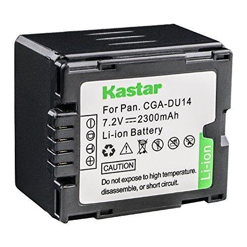 Kastar CGA-DU14 Li-ion Battery Compatible with Panasonic CGA-DU14 CGA-DU14A/1B CGA-DU21 CGA-DU21A/1B CGA-DU06 CGA-DU07 CGA-DU12 CGA-DU12A/1B and Hitachi DZ-BP21SJ DZ-BP14S DZ-BP7S DZ-BP14SW Cga Du14 Lithium Ion Battery