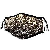Adulto Polvere Bocca Copertura Oro Glitter Nero Punti Dorati Regolabile Orecchio Loop Riutilizzabili Antivento Viso Coperture Per Donne Uomini