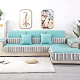 Antiincrustante Funda de sofá, Acolchado Seccional Cubierta De Couch de Couch para Los Niños Mascotas,Cubiertas de sofá antideslizantes del protector de muebles para perros Cats Kids (vendido por pie