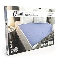 介護用寝具 失禁・尿漏れ対応 布団/寝具プロテクター ・ベッドパッド (マックス (1 x 1m), 薄むらさき)