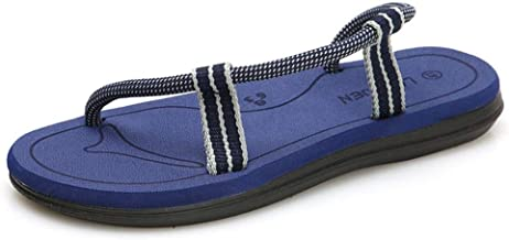 FJIUYUE-S, For Mens Or Women Summer Beach Slippers Outdoor Fashion Sandal Personality Shoes Mens Anti Slip Comfortable Breathable Water Lightweight Quick Dry (Color : Dark blue, Size : 37 EU)