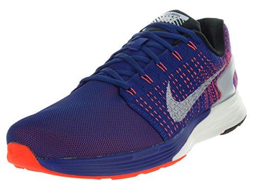 Nike Lunarglide 7 Flash, Zapatillas de Running para Hombre, Azul/Plateado / Rojo (DP Ryl Bl/Rflct Slvr-Ttl Crmsn), 45 EU