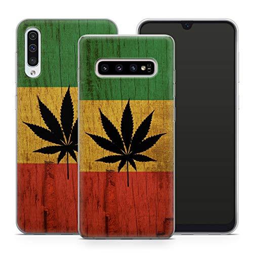Handyhülle Weed für Samsung Silikon MMM Berlin Hülle Gras Marihuana Cannabis Canabis Hanf Holz Bang, Hüllendesign:Design 5 | Silikon Klar, Kompatibel mit Handy:Samsung Galaxy A6+ (2018)