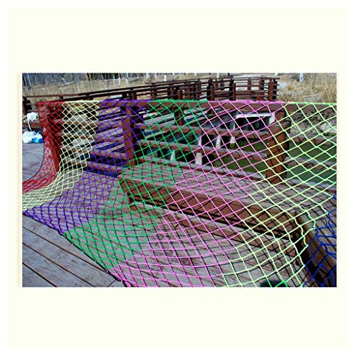 Great Deal! Child Safety Net, Color Decorative Net Stairs Protective Net Balcony High Altitude Anti-...