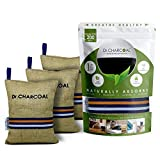Dr. CHARCOAL Non Electric Air Purifier, Deodorizer and Dehumidifier for Living Room, Kids Room, Bedroom, Pet Areas (500g, Pack of 3, Modish Khaki)