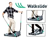 Walkslide Manual Treadmill,Elliptical & Nordic Skier in one! Includeds Booties, Compact, Portable, Quiet, Low Impact, Booties Required for use Over Tennis Shoes.