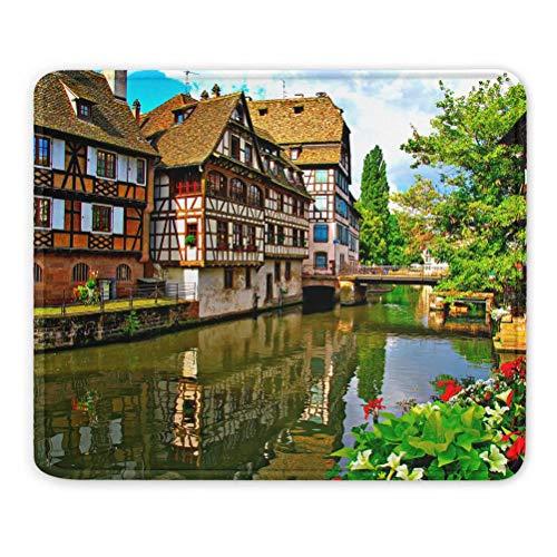 France Strasbourg Tapis de Souris Souvenir Cadeau 7,9 x 9,5 po Tapis en Caoutchouc de 3 mm