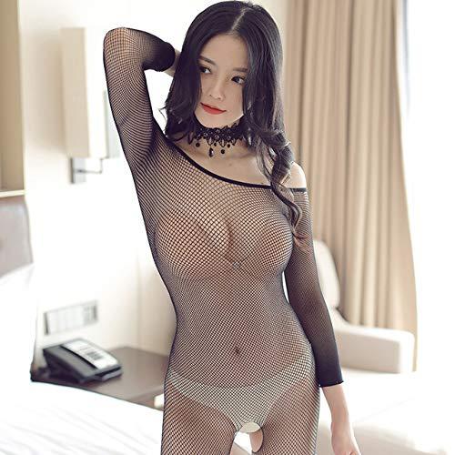Nonebranded Sexy Hollow Out Body Strümpfe Spitze Teddy Unterwäsche Transparente Dessous für erotische Frauen Plus Size Sex Kleidung Anzug, Typ C, One Size