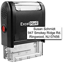 Personalize up to three lines of text on this customizable self-inking stamp. Use your stamp for return addresses, bank deposits, custom labels and more. Self-inking design allows for quick, repetitive stamping, and a clear mount bottom allows you to...