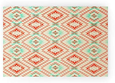 """Society6 Pattern State Tile Tribe Southwest Welcome Mat, 30"""" x 20"""", Red"""