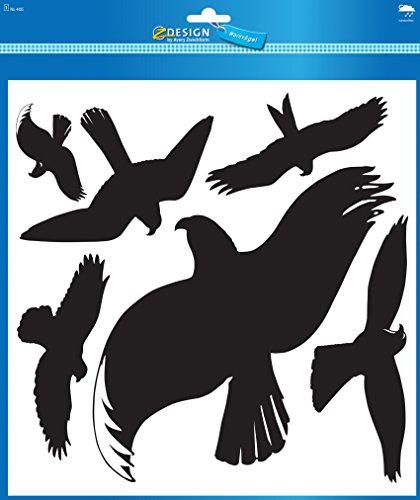 AVERY Zweckform 4485 waarschuwingsvogels vogels zwart (folie) 6 stickers zwart