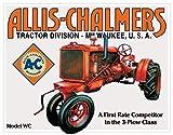 Desperate Enterprises Allis Chalmers Tractor - Model U Tin Sign, 16' W x 12.5' H