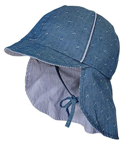 maximo Sommermütze mit Schirm und Nackenschutz in Jeansblau 100% BW UPF 15 923400...