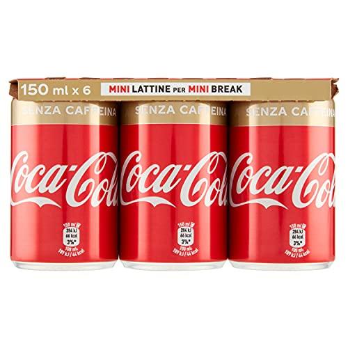 Coca-Cola Soft Drink senza Caffeina, confezione da 6 x 150 ml