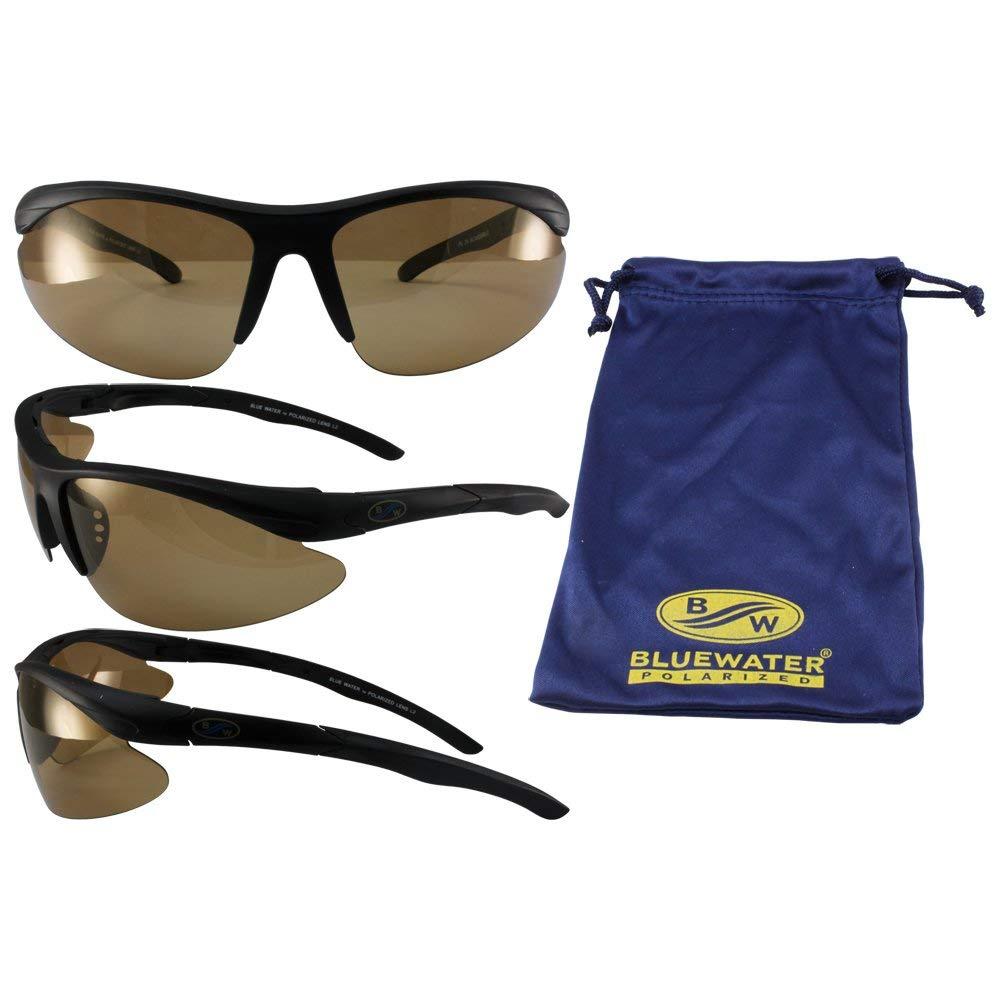 Popular overseas BlueWater Polarized Islander Inexpensive 24 Photochr Sunglasses Black Frames