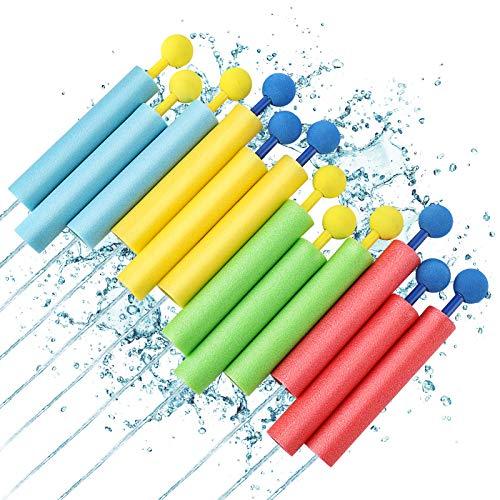 Lehoo Castle Wasserspritzpistole 12er Set, Wasserpistole Schaumstoff, Wasserpistole Spritzpistole, Wasserspielzeug für Pool Spiel, Sommer Partys, Garten