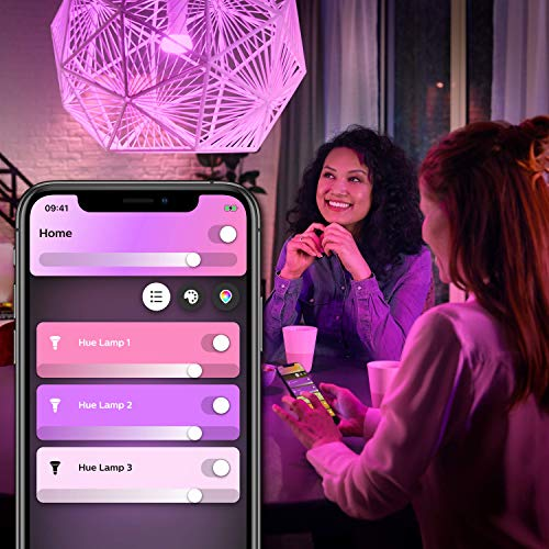 Philips Hue LED Lampe E27, 3. Generation, Einzellampe, dimmbar, 16 Mio Farben, app-gesteuert - 3