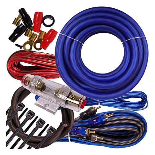Complete 2500W Gravity 4 Gauge Amplifier Installation Wiring Kit Amp PK1 4 Ga Blue - for Installer and DIY Hobbyist - Perfect for Car/Truck/Motorcycle/RV/ATV