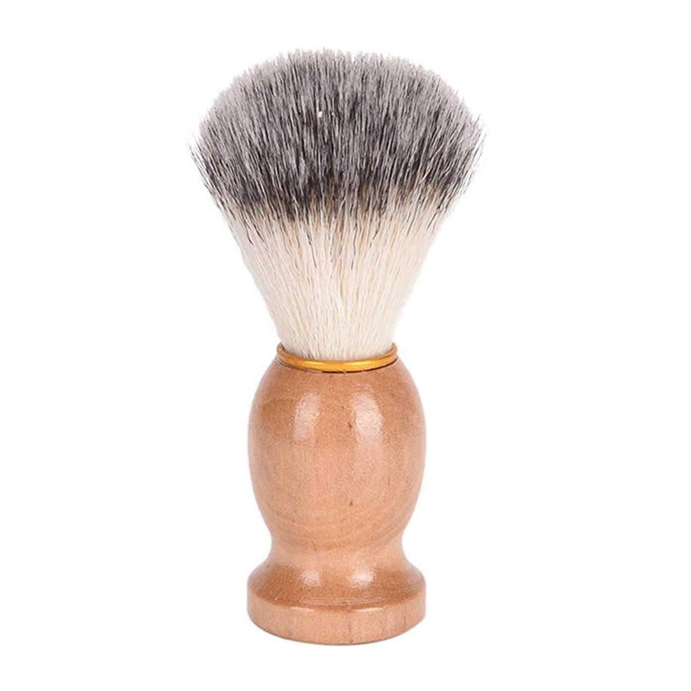 傾向成長する事故ひげブラシ 髭ブラシ シェービング用アクセサリー メンズ用 髭剃り ブラシ シェービングブラシ 木製ハンドル 男性 ギフト理容 洗顔 髭剃り