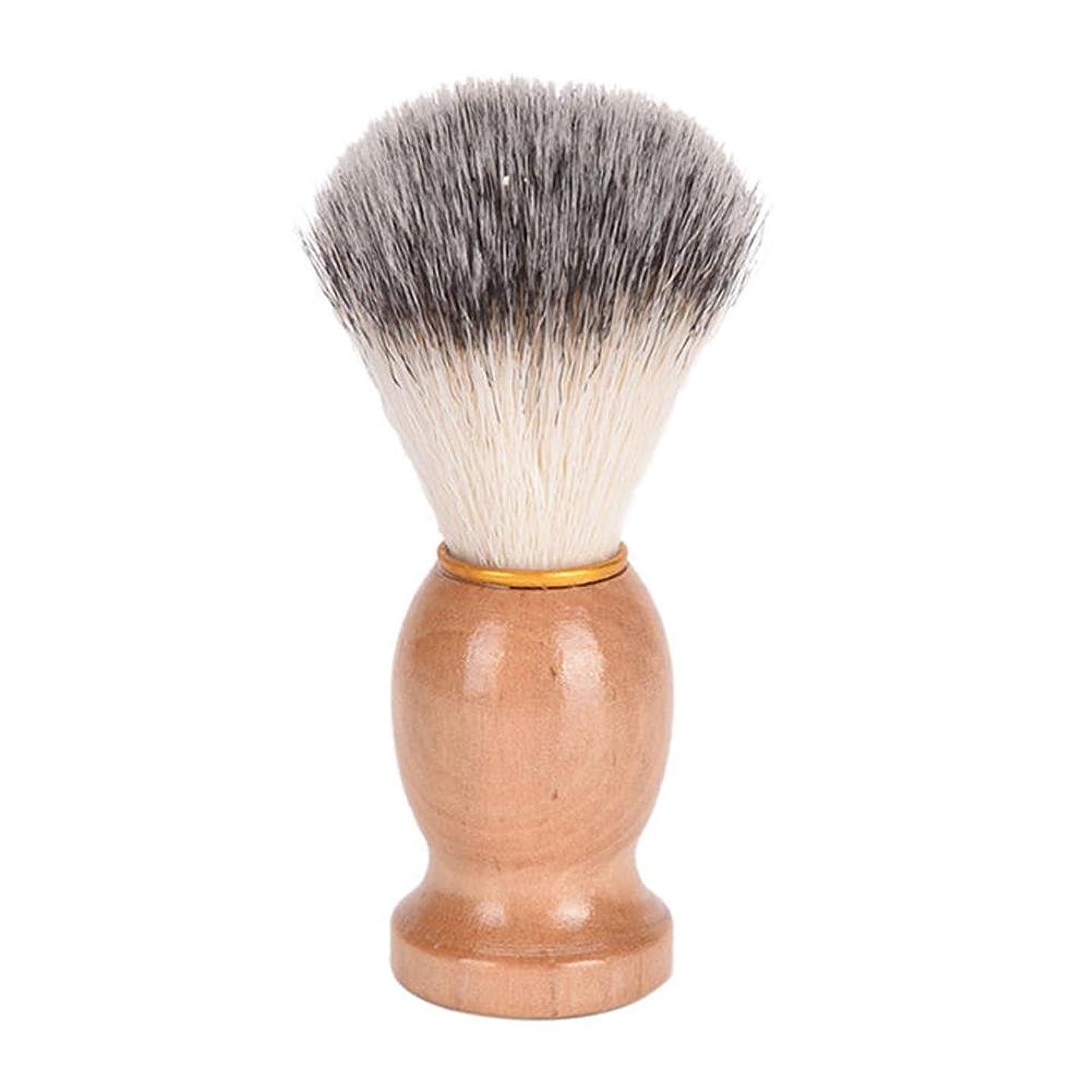 強風同情代わりにを立てるひげブラシ 髭ブラシ シェービング用アクセサリー メンズ用 髭剃り ブラシ シェービングブラシ 木製ハンドル 男性 ギフト理容 洗顔 髭剃り