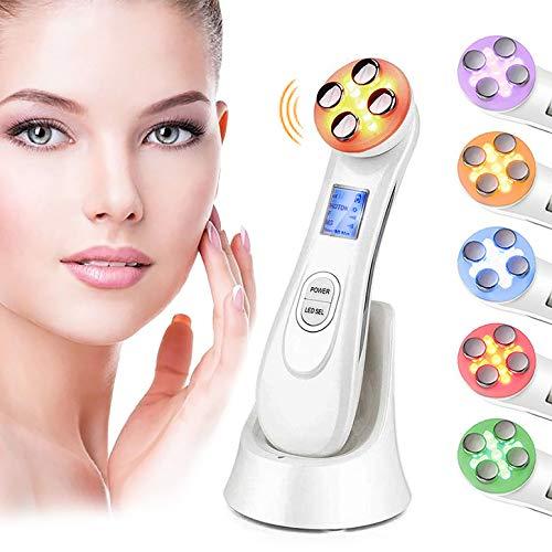 Ultrasuoni Viso Antirughe,Ultrasuoni Terapia LED Radiofrequenza Viso e Corpo Massaggiatore Viso Antirughe, Anti-età per la Pelle Dell\'acne per il Ringiovanimento Della Pelle Cura del Viso Quotidiana