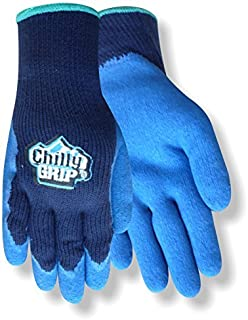 Red Steer Chilly Grip A311 Black/Blue 2XL Acrylic Full Fingered Work & General Purpose Gloves - Rubber Foam Coating - Rough Finish - A311-XXL [PRICE is per PAIR]