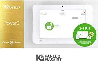 Qolsys IQ 2Plus with KIT - Panel AT&T PwrG Legacy Support 319MHz W/IQ Motion-S and (2) IQ Mini-S Door/Window Sensor Encryption Interlogix/Qolsys Compatible