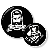 Polarkind Lot de 12 Boutons JGA pour Homme avec Barbe et Cylindre Style Vintage pour Enterrement de...