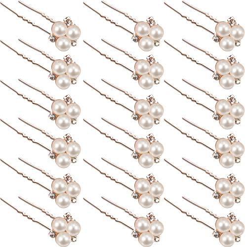 18 Pieces Wedding Pearl Hair Pins Brides Bridal Rhinestones Hair Pins Bridesmaid Hair Accessory product image
