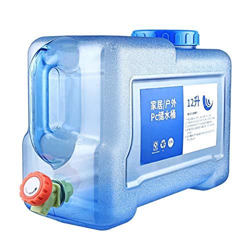 Cubo Almacenamiento Agua 12L Agua Bidón Agua Potable Dispensador De Agua Portátil con Grifo/caño De Agua Contenedor De Agua Portátil Tanque De Almacenamiento De Agua Portátil Acampar Viajes En Auto