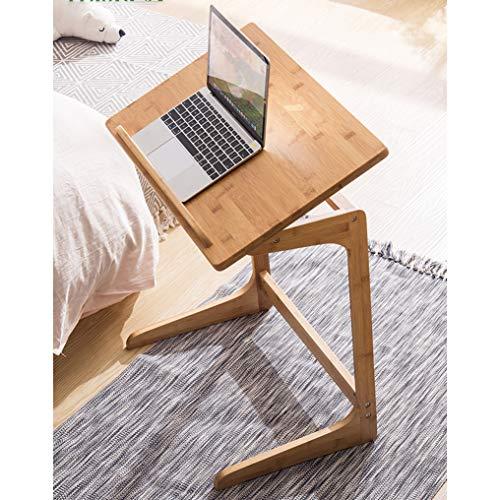 Y-CJ Laptop-Tisch, Frühstücks-Serviertablett, Verstellbarer Flip-Tisch für tragbare Mini-Picknicktische, ergonomische Tischbambusholzmaserung, Größe: 60 * 40 * 65 cm