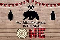 新しい1歳の誕生日の背景7x5ftサファリのテーマ素朴な木の写真の背景最初の誕生日の男の子の女の子の部屋の装飾ケーキスマッシュパーティーテーブル画像booth小道具デジタル壁紙