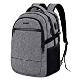 KROSER Laptop Backpack 15.6 Inch Ultra Light Computer Backpack Stylish Water-repellent College Backpack with USB charging Port & Headphone Interface for Work/Travel/School/Business-Grey