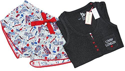 Primark Süßer Schlafanzug kurz Pyjama Lovin' London (40-42 / UK 14-16)