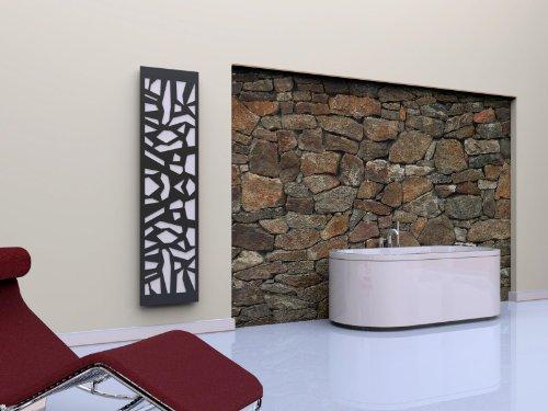 Badheizkörper Design Mosaik 3, HxB: 180 x 47 cm, 1118 Watt, weiß/moonstone-grau (metallic) (Marke: Szagato) Made in Germany/Bad und Wohnraum-Heizkörper (Mittelanschluss)