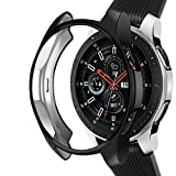 Case Compatible Samsung Galaxy Watch 46mm, NaHai TPU Slim Plated Case Shock-Proof Cover All-Around Protective Bumper Shell for Galaxy Watch 46mm SM-R800 Smartwatch, Black