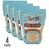 Bob's Red Mill Resealable Whole Grain Steel Cut Oats, 24 Ounce (Pack of 4)