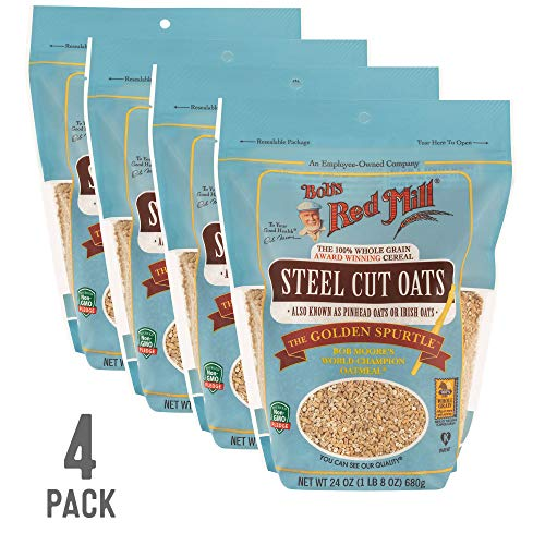 Bob's Red Mill Resealable Whole Grain Steel Cut Oats, 24 Ounce