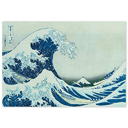 JUNIWORDS Poster, Katsushika Hokusai, Die grosse Welle von Kanagawa, Unter der Welle im Meer vor Kanagawa, 44 x 30 cm