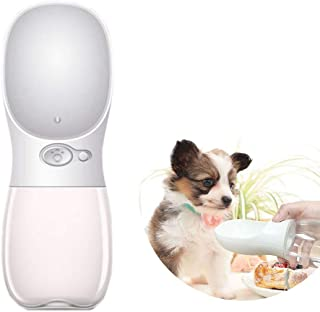 Dog Water Bottle for Walking, Cute & Portable Pet Travel Water Drink Cup with Bowl Dispenser, Leak Proof, Portable, Fast a...